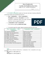 Ficha Informativa - Double Comparative
