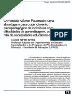 O Método Reuven Feuerstein Uma Abordagem Para o Atendimento Psicopedagógico de Indivíduos Com Dificuldades de Aprendizagem, Portadores Ou Não de Necessidades Educativas Especiais