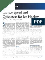 Off Ice Quickness Program