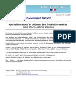 Communiqué de la préfecture de la Nièvre
