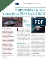 Los peces amenazados en la lista roja 2003 de la UICN