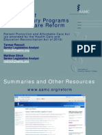 Overview of Discretionary Programs in Health Care Reform    Patient Protection and Affordable Care Act(as amended by the Health Care and Education Reconciliation Act of 2010)      National Health Service Corps         051210teleconf