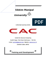 Project Report on Training and Development