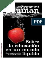 Sobre La Educacion en Un Mundo Liquido PDF