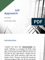 Three Skill Approach