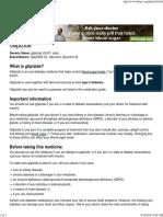 Glipizide_ Uses, Dosage & Side Effects - Drugs