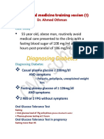 Internal Medicine Training Session (1); Diabetes mellitus