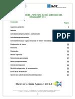 Tips Declarasat 2014