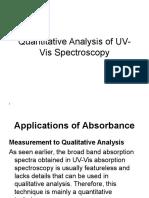 Quantitative Analysis of UV-Vis Spectroscopy
