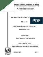 Excavación de Túneles en México
