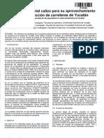 Estudio Del Material Calizo Para Su Aprovechamiento en La Construccion de Carreteras de Yucatan