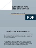 Acupuntura Para Pacientes Con Cancer