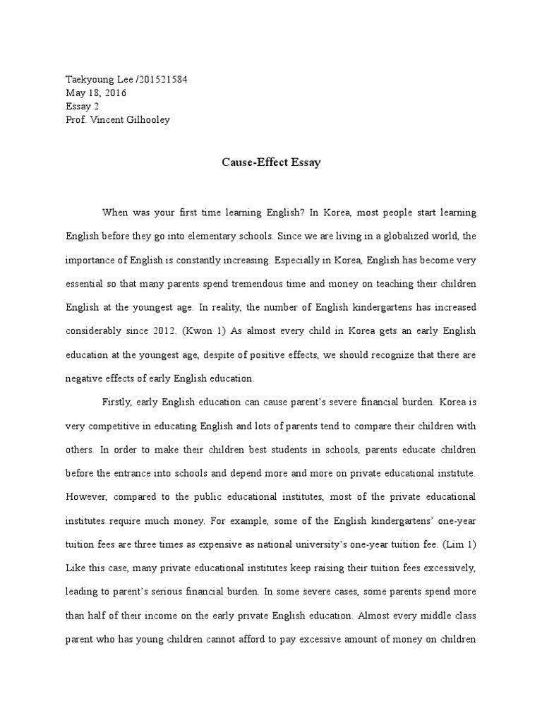 Essay Proposal Examples  Learning English Essay Writing also Mental Health Essays Causeeffect Essay  English Language  First Language My Hobby Essay In English