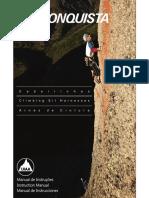 Manual de Instruções Instruction Manual Manual de Instrucciones. C a d e i r i n h a s. C l i m b i n g S i t H a r n e s s e s.pdf