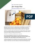 New Natural Fiber Orange Fiber