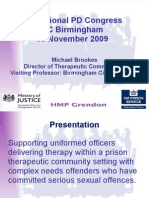 Supporting uniformed officers in delivering therapy within a prison therapeutic community setting with complex needs offenders who have committed serious sexual offences