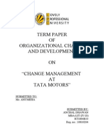 term paper on change management at Tata Motors