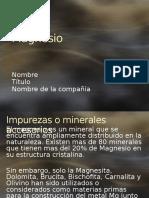 Magnesio Minerales