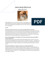 I Want to Stop the Hitler in You - Jaggi Vasudev