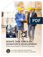 Senate Task Force Workforce Development Report