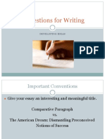 essay writing conventions ppt