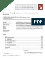 Biooprocesos Necesidades de Modelado Para La Evaluacion Del Proceso y La Sostenibilidad