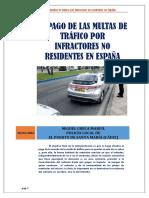 El Pago de Las Multas de Tráfico Por Infractores No Residentes en España