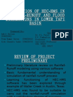 Application of Hec-hms in Rainfall-runoff and Flood Simulations in Lower Tapi Basin