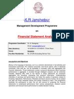 MDP@XLRI - Financial Statement Analysis