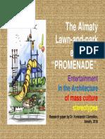 "The Almaty Lawn-and-park ensemble ""Promenade"""