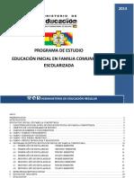 Programas de Estudio Inicial Escolarizada
