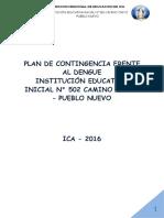 Plantilla plan de Contingencia Dengue 502 2016