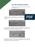 Lista de Exercícios de resistência dos materiais - N01.pdf
