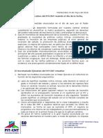 Resolución Secretariado Del Pit-Cnt