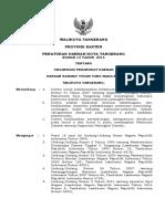 Perda Kota Tangerang 13 tahun 2014 Organisasi Perangkat Daerah