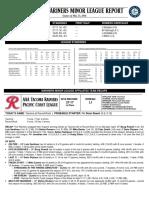 05.24.16 Mariners Minor League Report