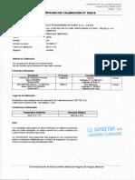 Certificado de Pinza Amperimetrica