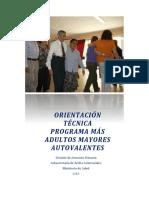 Orientación Técnica Programa Más Adultos Mayores Autovalentes