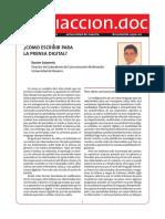 Art Como Escribir Para La Prensa Digital Salaverria 2002