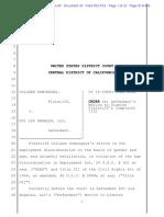 Dominguez Order on MTD