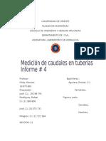 Informe # 4 Medición de Caudales en Tuberías