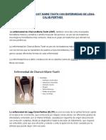 Sindrome de Charcot Marie Tooth Con Enfermedad de Legg