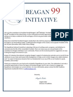 Reagan 99 Initiative Information for Republican Supporters and Third Party Orgs