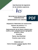 Practica 1 de MATERIALES DE CONSTRUCCION UNI