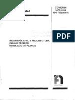 3476-99 norma covenin cotas, lineas