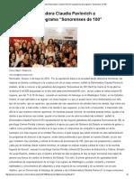 """04-05-16 Presenta Gobernadora Claudia Pavlovich a ganadoras del programa """"Sonorenses de 100"""". -Kiosko Mayor"""