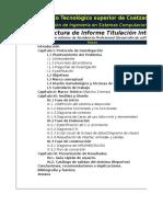 Estructuras Para El Informe de Los Proyectos de Investig II