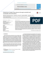 (2014) Free Production of Copper From Minerals Through Controlled Andsustainable Electrochemistry