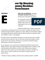 Officials Cover Up Housing Bubble's Scummy Residue Fraudulent Foreclosure Documents