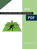 2016 tennis program